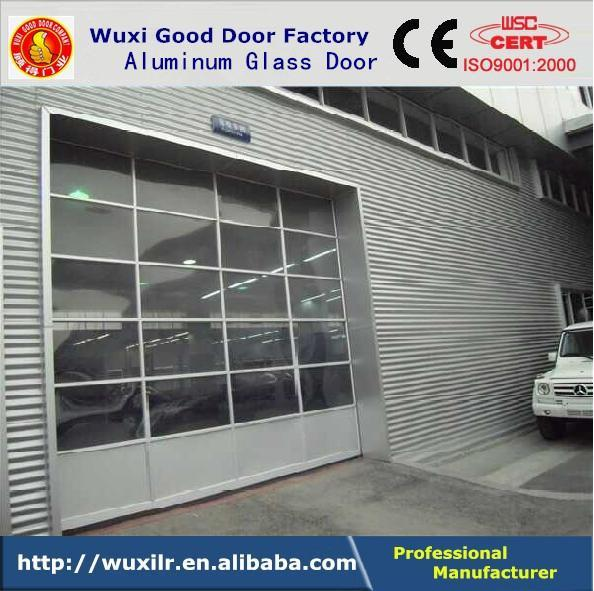 Good automatic sectional glass garage doors wuxi factory for Sectional glass garage door