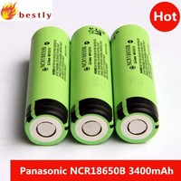 Free shipping 200 pieces Original Pa na so nic NCR18650B Battery 3.7v 3400mah li-ion battery cells NCR18650B
