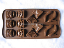 Fan handbag high heeled shoes chocolate moulds silicone molds
