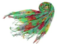 2012 new lady fashion winter fashion scarf with flower printed