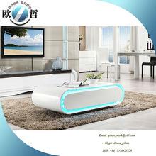 LED light coffee table Oval coffee table