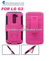 Hot!! Kickstand cover robot case for LG G2