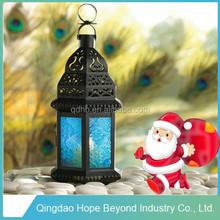Blue Glass Moroccan Lantern Candle Holder Lantern