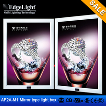 Edgelight AF2A-M1 clip mirror led light box sign wedding decoration