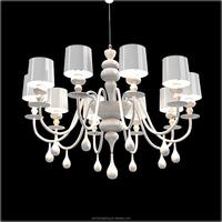 Modern simple desgin Iron Glass Chandelier pendant lamp suspension for dinning room restaurant decoration PLP8078
