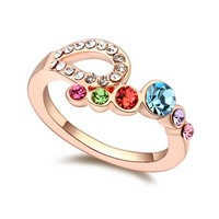 New Arrival High Quality Gold Wedding Ring Made With Swarovski Elements