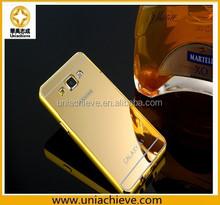 For Samsung Galaxy S5mirror case, Aluminum Diamond Bumper Case for Samsung Galaxy S5 i9600