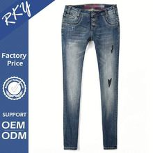 Fancy Design With Custom Sizes Windproof Girls Branded Jeans