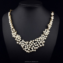 New design the Europe and America fashion natural pearl necklace for women wedding,party,engagement