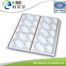 Popular ceiling design 20cm pvc wall panel / pvc panel with tongue and groove