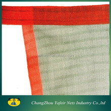 green olive net with orange edge in 90gsm