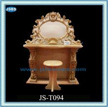 Hechos a mano de mármol amarillo y silla