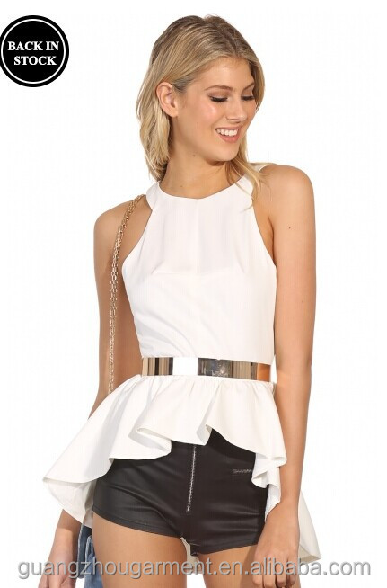 White Taffeta Evening Blouse 65