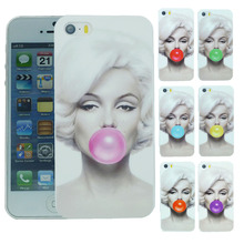 Stylish Marilyn Monroe Bubble Gum Protective Back Hard Cover Case For Apple i Phone iPhone 6 iPhone6 4.7 inch