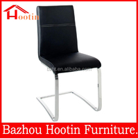 Alibaba style low back leather and chrome covers for dining room chair