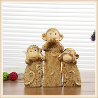 decorative monkey figurine for Monkey year table ornament