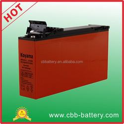 OEM brand name 150ah 12V GEL AGM front terminal battery for solar panel