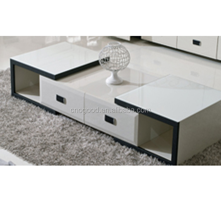 Modern design home furniture glass center table with price for Latest side table designs