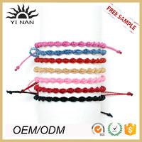 Custom Friendship Charm Bracelets Handmade Braided String Bracelet For Women