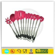 Funky Hot Pink 6 Piece Silicone Kitchen Utensils / Tools Set
