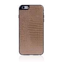 for iPhone 6 Crocodile PU Leather Sticker TPU Rubber Soft Case