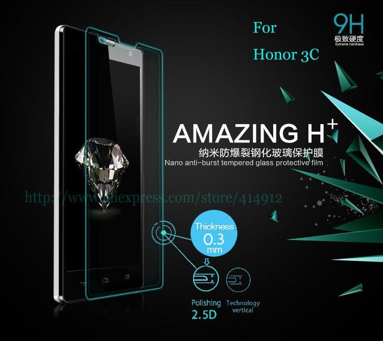 h + 0,3 мм тонкие 2,5 d 9h закаленное стекло экрана протектор для huawei честь 3c экрана протектор с розничной упаковке
