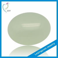 China Best Selling Oval Rough White Jade
