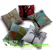 High Quality 2015 new Home Textile tree cushion cover decorative sofa chair car seat Pillow Cover linen pillow cover