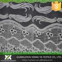 87047 seda de la leche químico guipur diseños alta calidad de la fábrica del bordado acoplamiento neto tela de encaje de organza blusa de encaje 2014