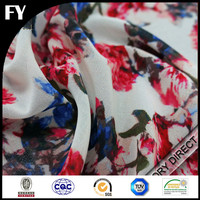 bright colors soft touch floral printed silk georgette fabric