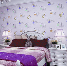 Childern Bedroom Decoratiion Girls Kids Kitty Wallpaper Wall