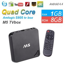 M5 Amlogic S805 Tv Box Android 4.4 OS H.265 4K Clear Video 1GB 8GB With XBMC Quad Core Support Mouse keyboard and Keyboard