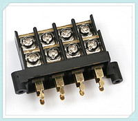 Gold or Silver Plated Brass Car Speaker Terminal Block KT4 11mm/13mm Pitch 300V 30A