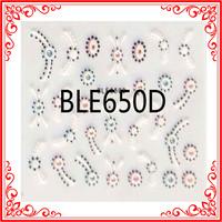 S016-650 Popular Fashion French Design Glitter 3d Bow Nail Sticker