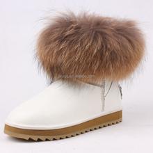 2015 new design winter snow boots girl warm snow boots soft fox fur snow boots cheap wholesale