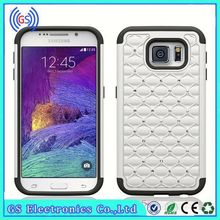 Dual layer crystal bling hybrid armor case For Samsung GALAXY mini S5570