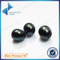 Hot sale dark black loose freshwater teardrop pearls
