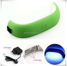 PRETTY AND EASY protable mini uv nail drying machine/rainbow shap led nail lamp nail with USB line