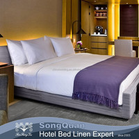 Hotel brand single bed quilt cover and bed sheet aplic work 100% cotton sateen bed sheets