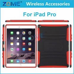 Supply Cheap 2 in 1 Rugged Hybrid Armor Heavy Duty Tablets Cases with Kickstand For iPad Pro