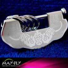 Fashion process lock shape metal key chain/ craft lock buckle metal key chains,customized logo metal key chain