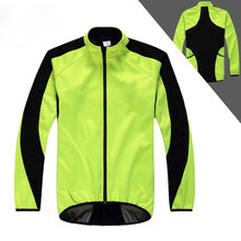 Fleece Thermal Cycling Long Sleeve Jersey Winter Outdoor Sports Jacket Windproof Wind Coat Bicycle Cycle Wear Clothing Fluoresc