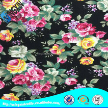 traditional flower print nylon rayon spandex gingham fabric for bed sheet