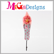 Migodesigns Princess Pink Shoes Girls Wall Hanging Clothes Hooks