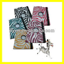 Rotating Magnetic Leather Case for the new iPad 3 2 4 Smart Cover PU Leather Cases Accessories Stylish Zebra Pinto New 5 colors