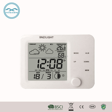 YD8238E Moon Phase Weather Station Clock With Comfort Icons