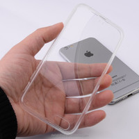 1.2mm top clear PC hard case for iphone 6 / 6s, side/frame is soft TPU