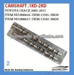 For toyota hiace body kits camshaft .1kd-2kd for Commuter 2005 up
