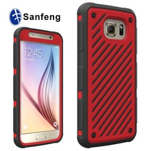 plastic silicone combo phone case for galaxy s6 g9200