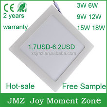 Hot sale ultra thin square/round led panel light multiple wattage options